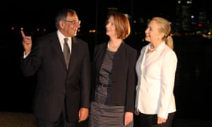 Leon Panetta, Julia Gillard, Hillary Clinton in Perth