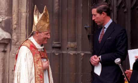 The retired bishop Peter Ball, pictured with Prince Charles in 1992