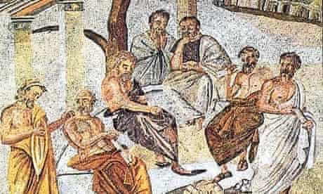 A mosaic depicting Plato's Academy