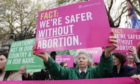Anti-abortion protest in Dublin