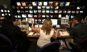 BBC 'News 24'  TV programme control desk
