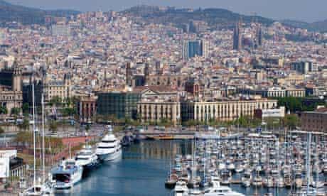 Barcelona port and city