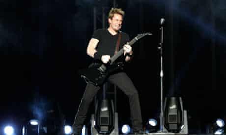Nickelback singer Chad Kroeger performs in Abu Dhabi, 2012
