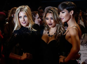 Twilight London premiere: Mollie King, Vanessa White and Frankie Sandford from The Saturdays