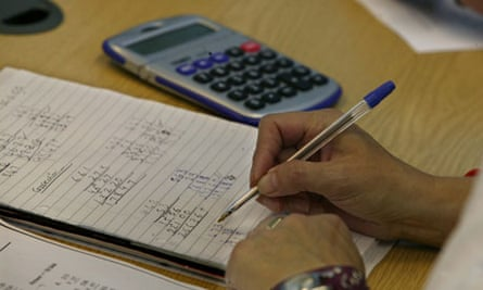 Writing sums with calculator