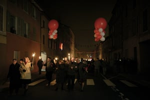 Beaujolais Nouveau: People celebrate in Beaujeu's streets