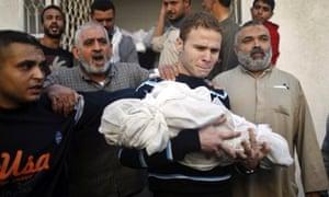 BBC Arabic employee Jihad al-Masharawi with dead son Gaza