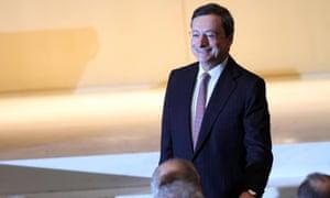 Central Bank (ECB) President Mario Draghi arrives at Bocconi University for academic year's inauguration Milan, Italy, 15 November 2012.
