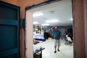 Gaza and Israeli strikes: Netivot, Israel: Israelis stay in a bomb shelter during aerial attacks
