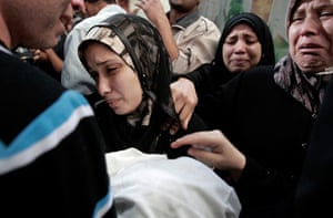 Gaza and Israeli strikes: Gaza City: The parents of 11 month-old Palestinian baby