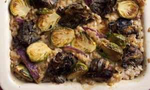Spelt, sprout and artichoke bake