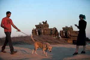 Strikes update: Gaza Border: Israelis watch APCs being deployed
