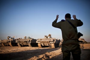 Strikes update: Israeli APCs get instructions before leaving a base