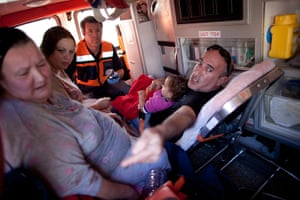 Strikes update: Israel: Israelis are evacuated in an ambulance after a rocket attack
