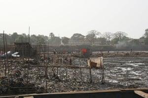 World Toilet Day: A common latrine in Kroo Bay Slum in Sierra Leone's capital Freetown