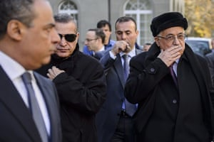 Strikes update: Palestinian President Mahmud Abbas gestures