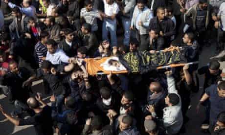Funeral of four-year-old girl Ranan Arafah killed by Israeli airstrike, Gaza City - 15 Nov 2012