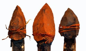 Stone-tipped spears