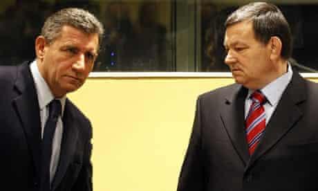 Ante Gotovina, left, and Mladen Markac