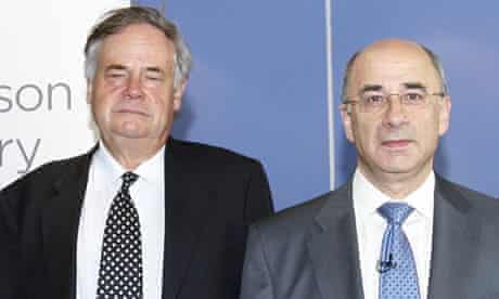 Lord Justice Leveson (right) and Sir David Bell, who is at the heart of the Daily Mail investigation