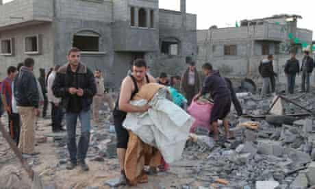 Gaza bomb damage