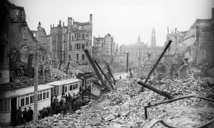 Dresden after bombing during the second world war