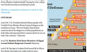 Haaretz strike map
