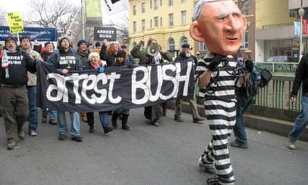 George Bush protest, Canada, 2011