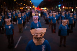 20 Photos: Workers from Telefonica phone company demonstrate in Barcelona