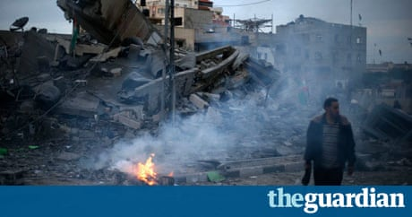 Israeli air strike hits Hamas PM's office | World news ...
