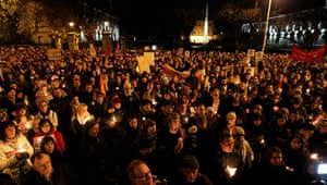 Ireland abortion row: Protesters hold candles in memory of Savita Halappanavar