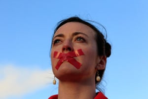Ireland abortion row: Siobhan Clancy takes part in a vigil in Dublin