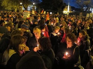 Ireland abortion row: Abortion rights protesters light candles