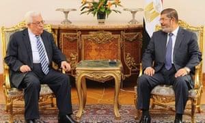 Mohamed Mursi and Mahmoud Abbas