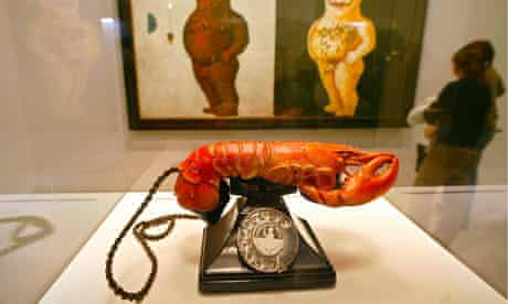 Dalí's Lobster Telephone at the Pompidou Centre in 2002