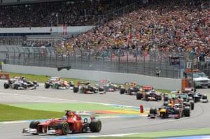 formula one: 10. Ferrari's Spanish driver Fernando Alonso