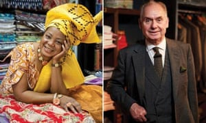 Textile trader Franceskka Abimbola and bespoke shirt maker and tailor Robert Boyd-Bowman