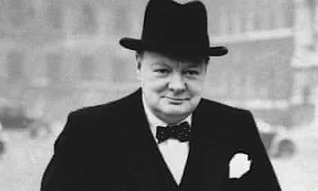 Winston Churchill in 1940s London