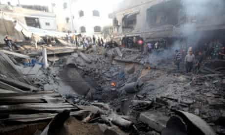 Aftermath of Israeli Airstrikes in Gaza