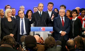 Rightwing rivals both declare victory as battle to succeed Sarkozy turns nasty