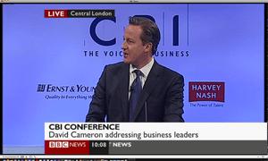 David Cameron at the CBI
