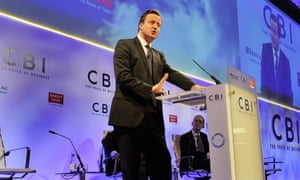 Prime Minister David Cameron makes a speech, during the CBI conference at the Grosvenor House Hotel in central London.