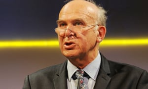 Vince Cable speaking at the CBI conference.