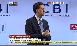 Ed Miliband at the CBI, November 19 2012.