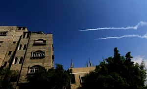 Gaza conflict: A rocket is launched towards Israel