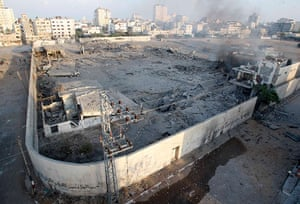 Gaza conflict: The rubble of a destroyed Hamas compound