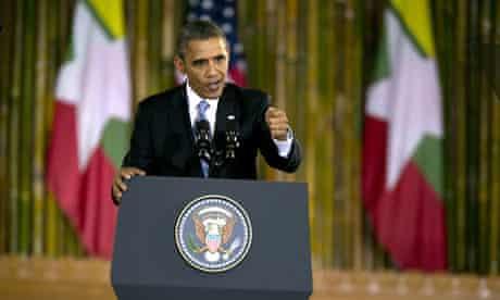 US President Obama in Burma