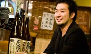 Kenji Suzuki of 47 Dining in Tokyo with Fukushima branded sake