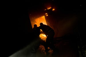 gaza conflict continues: Firefighters