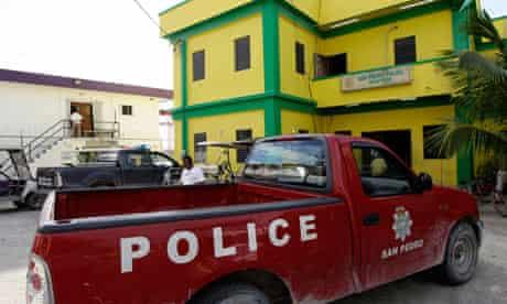 Belize police station John McAfee